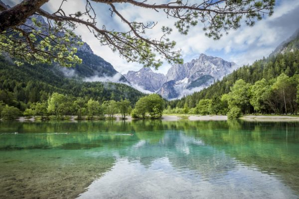 Jezero u Kranjské Gory, Slovinsko