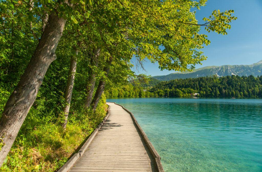 Stezka kolem jezera, Bled, Slovinsko