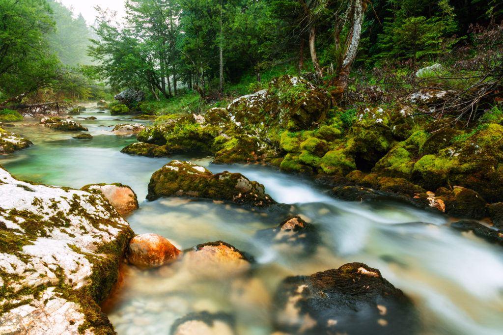 Korita Mostnice, Bohinj, Slovinsko