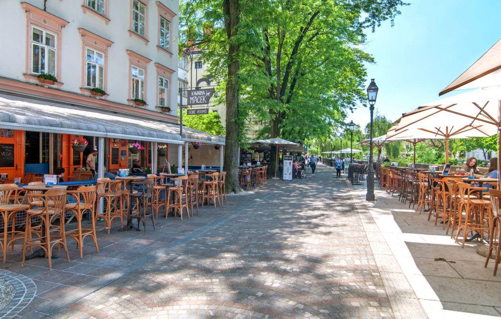 Nábřeží Lublanice, Lublaň, Slovinsko