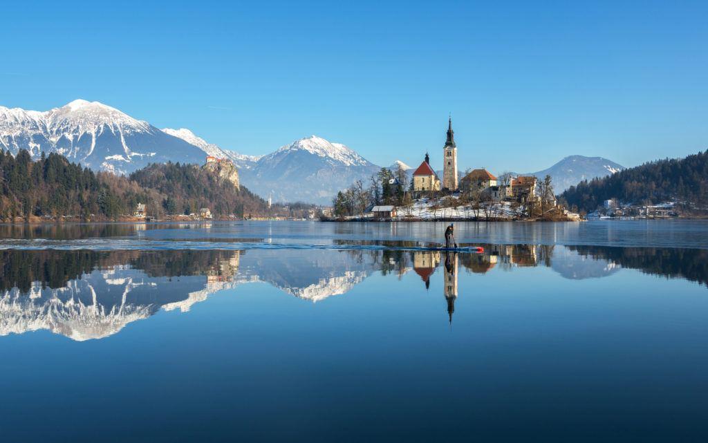 Bled v zimě, Slovinsko