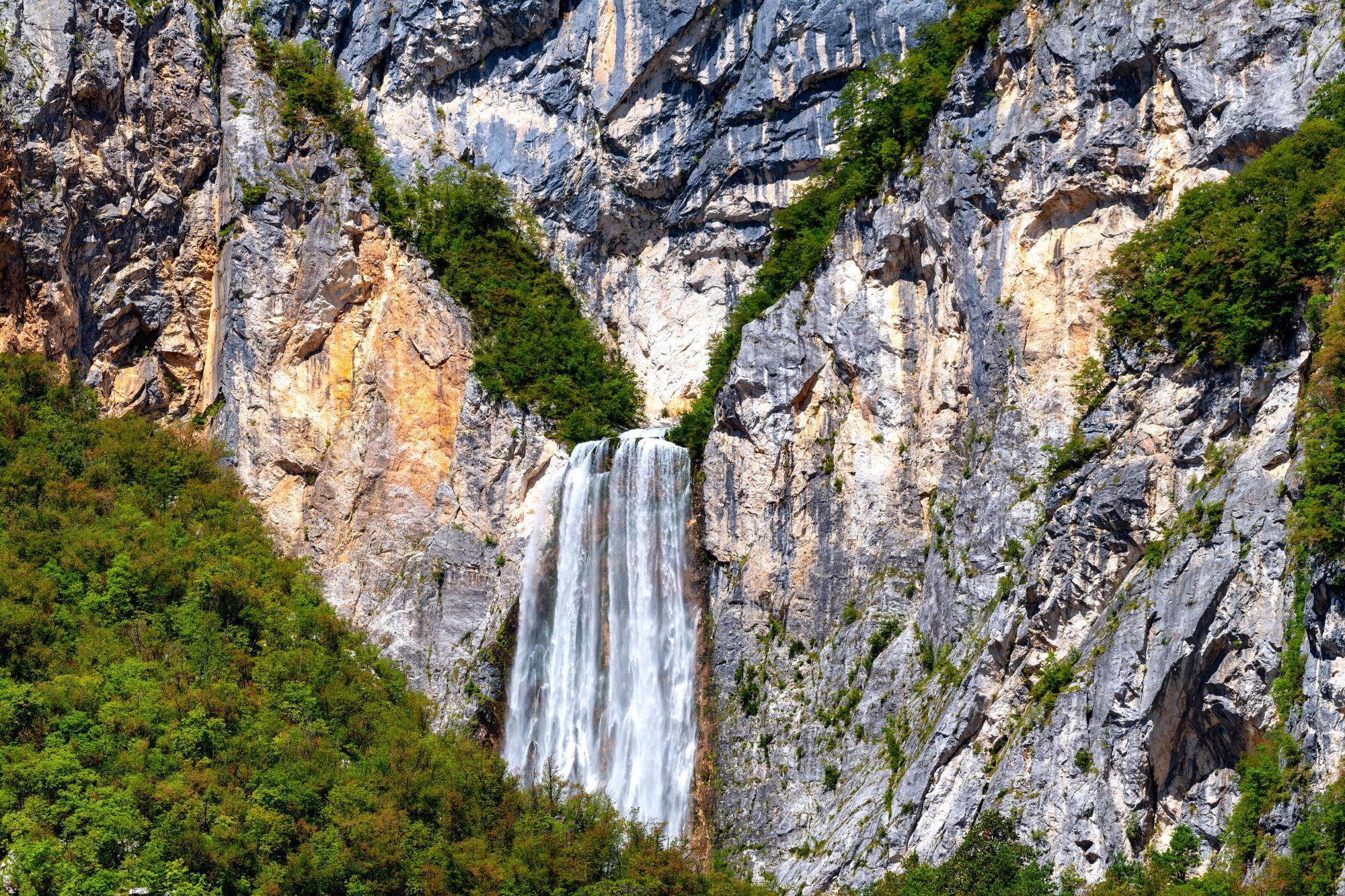 Vodopád Boka, Bovec, Slovinsko