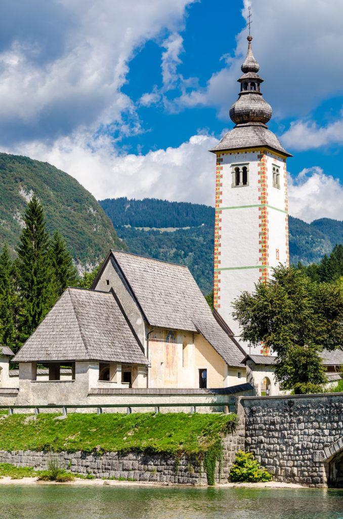 Kostel sv. Jana Křtitele, Bohinjské jezero, Slovinsko