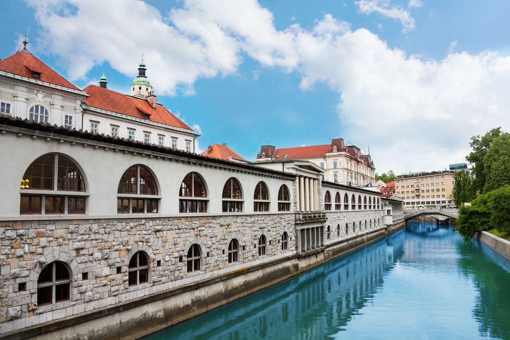 Lublaňská ústřední tržnice, Lublaň, Slovinsko