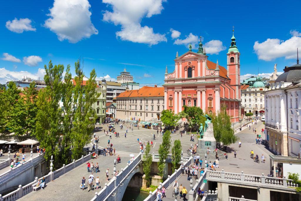 Prešernovo náměstí, Lublaň, Slovinsko
