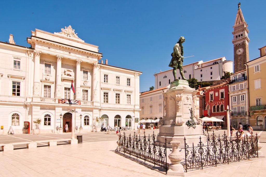 Tartiniho náměstí, Piran, Slovinsko