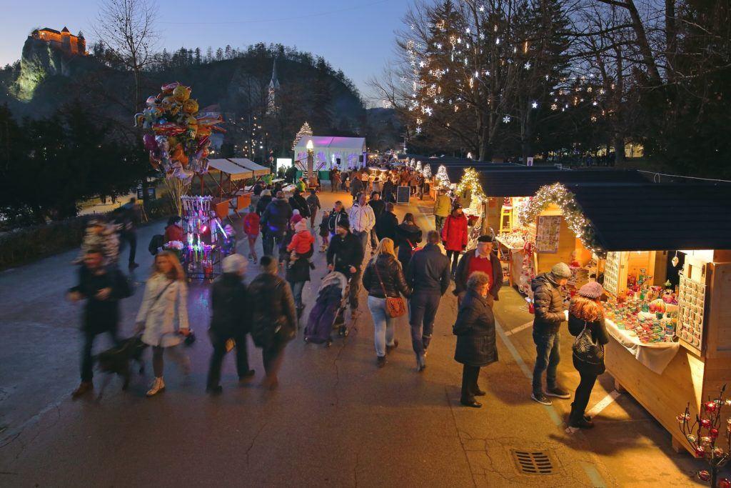 Vánoční trhy Bled, Slovinsko. Foto: Matej Vranič