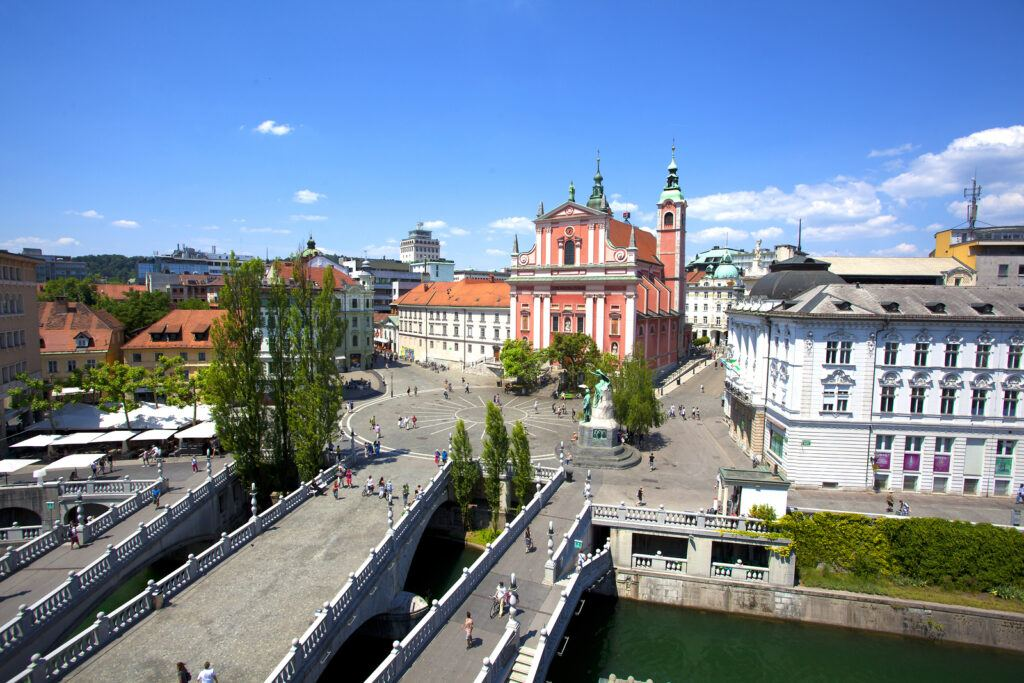 Trojmostí, Lublaň, Slovinsko. Foto: Aljaž Sedovšek