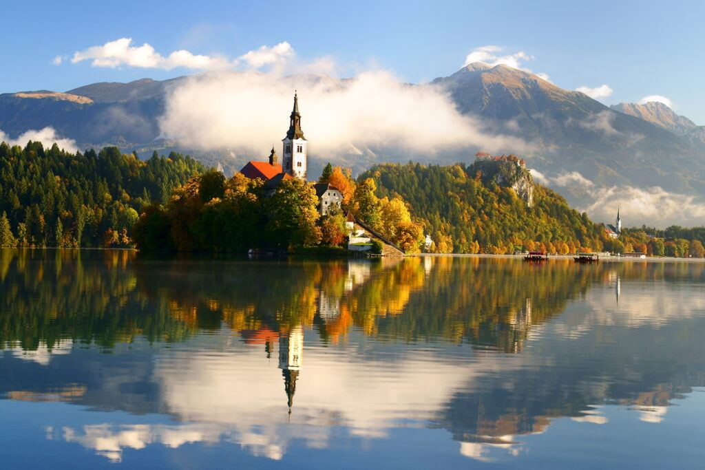 Podzimní Bled, Slovinsko