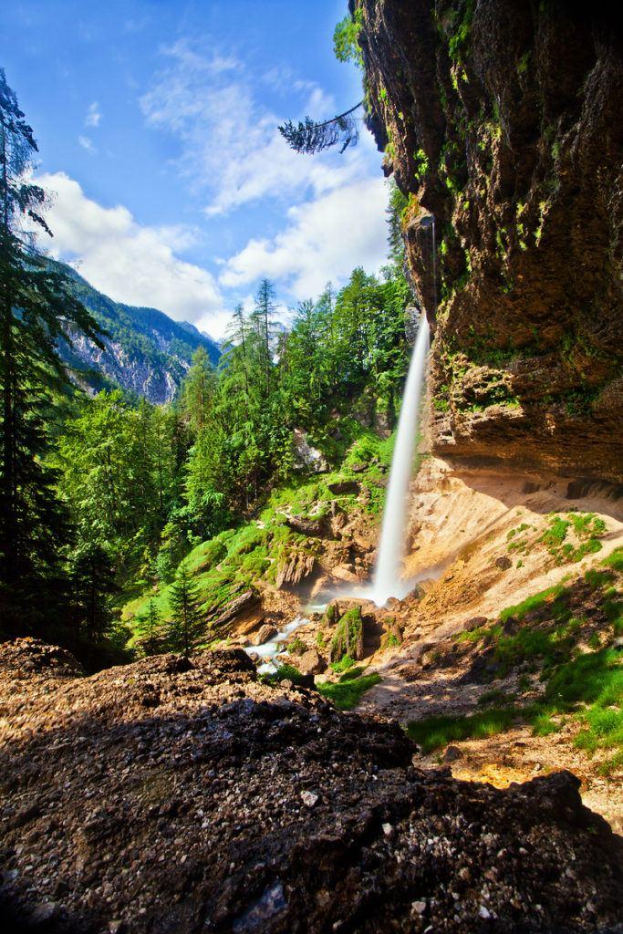 Vodopád Peričnik, Julské Alpy, Slovinsko. Foto: Jošt Gantar