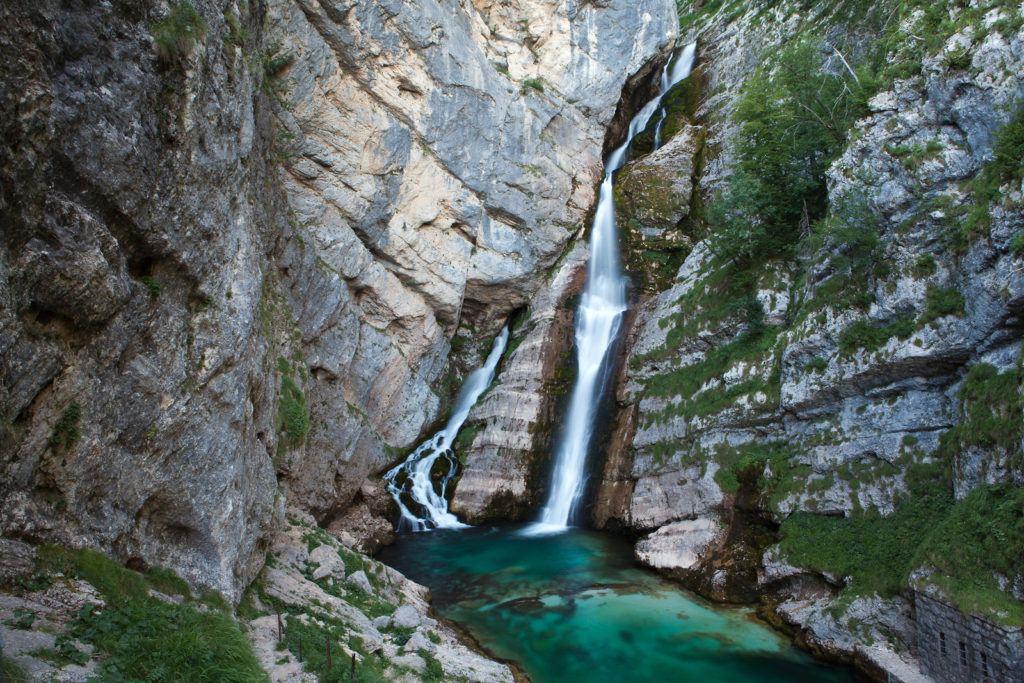 Vodopád Savica, Bohinj, Slovinsko. Foto: Jošt Gantar