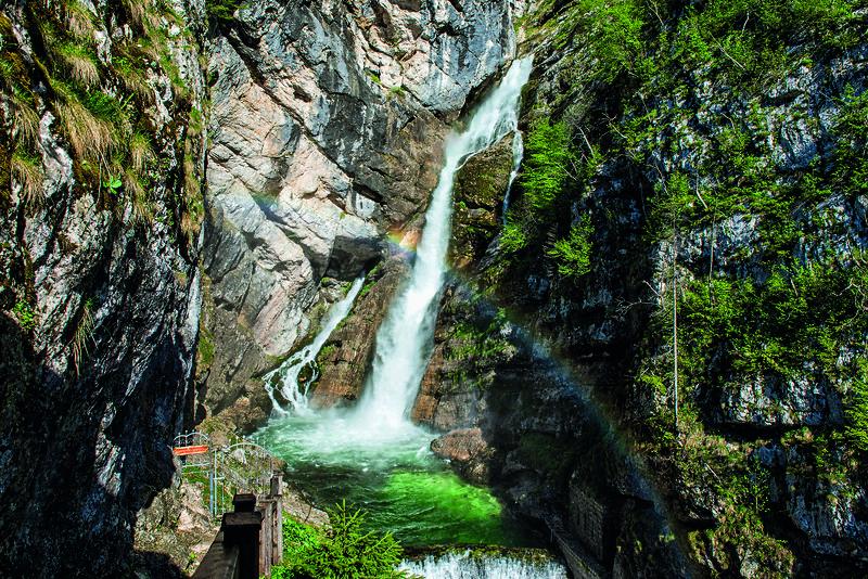 Vodopád Savica, Bohinj, Slovinsko. Foto: Mojca Odar / Turizem Bohinj
