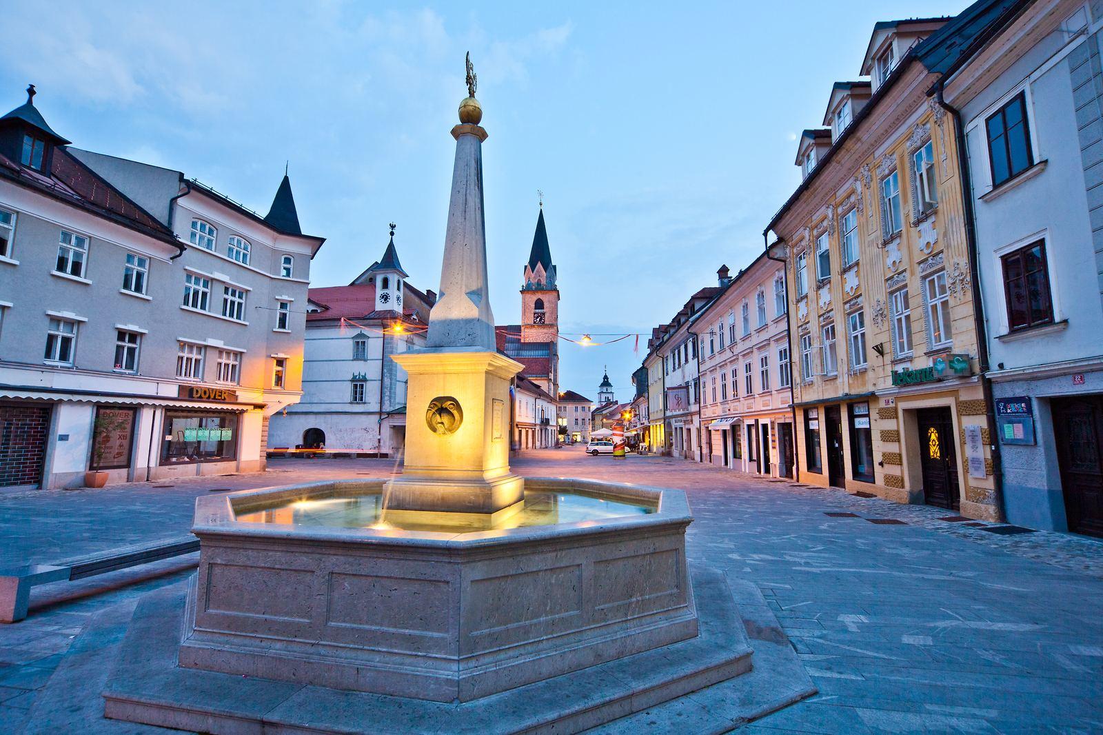 Glavni trg, Kranj, Slovinsko. Foto: Jošt Gantar