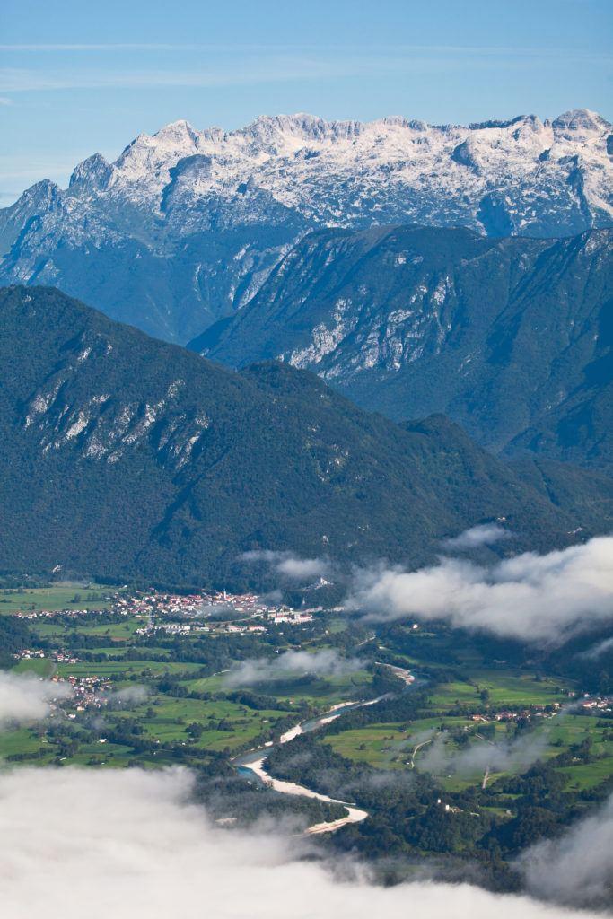Kobarid, údolí Soči, Slovinsko