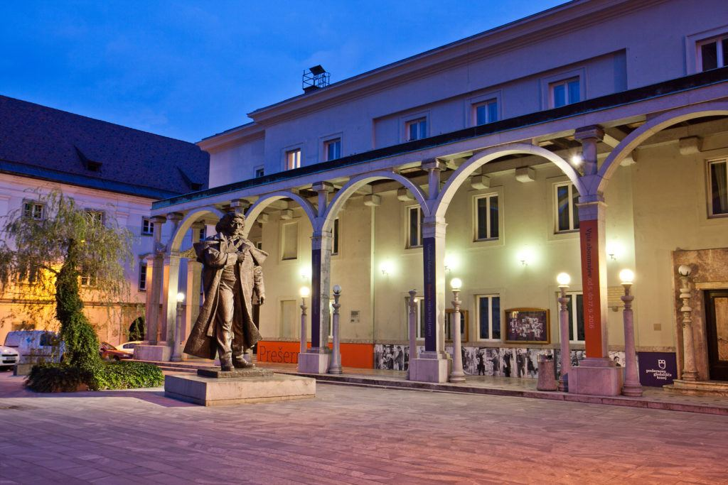Prešernovo divadlo, Kranj, Slovinsko. Foto: Jošt Gantar