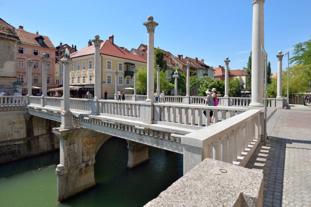 Ševcovský most, Jože Plečnik, Lublaň, Slovinsko. Foto: Miran Kambic