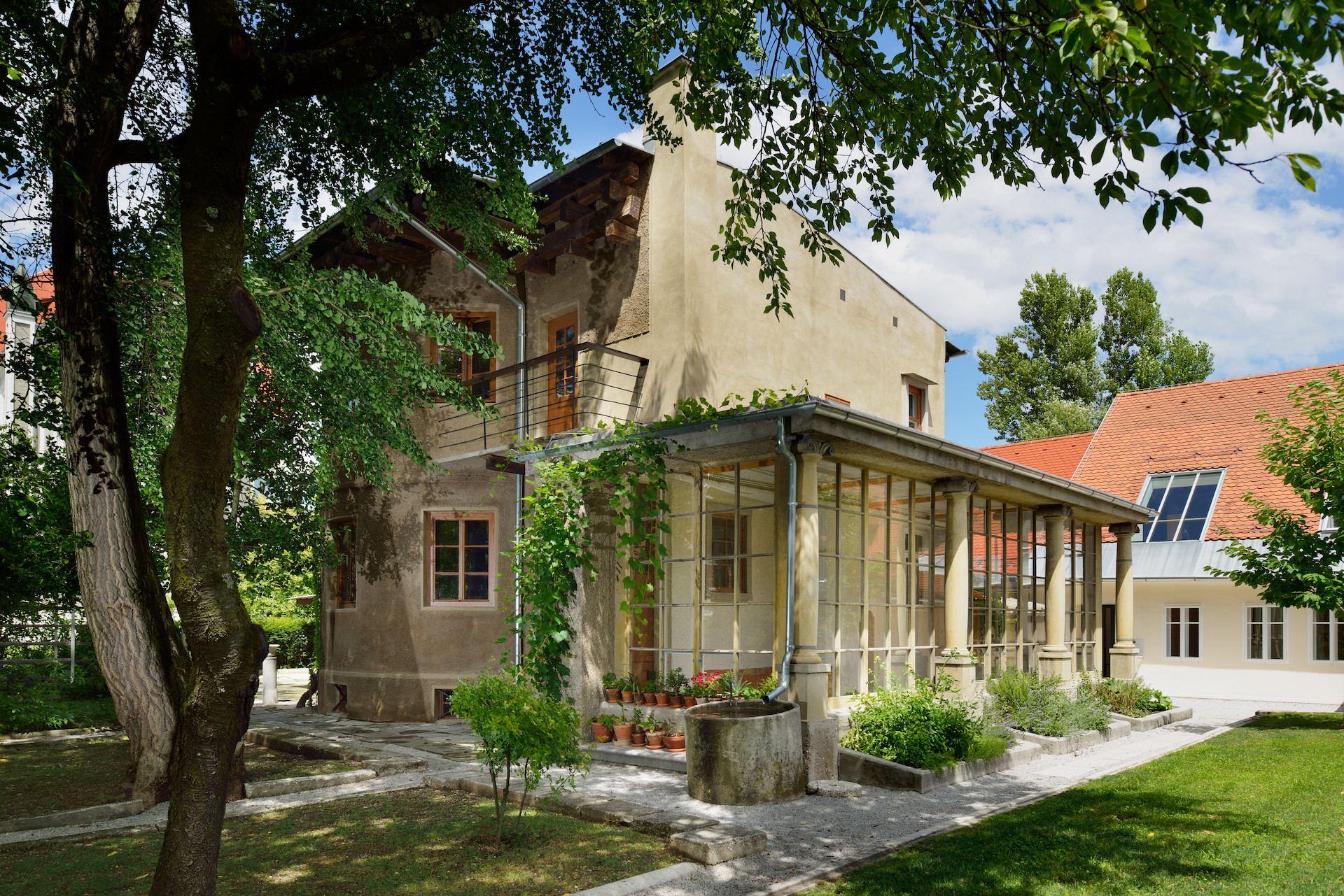 Plečnikův dům, Lublaň, Střední Slovinsko. Foto: Miran Kambic