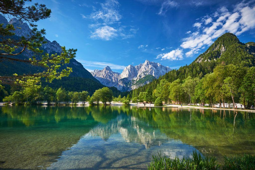 Jezero Jasna, Kranjska Gora, Slovinsko