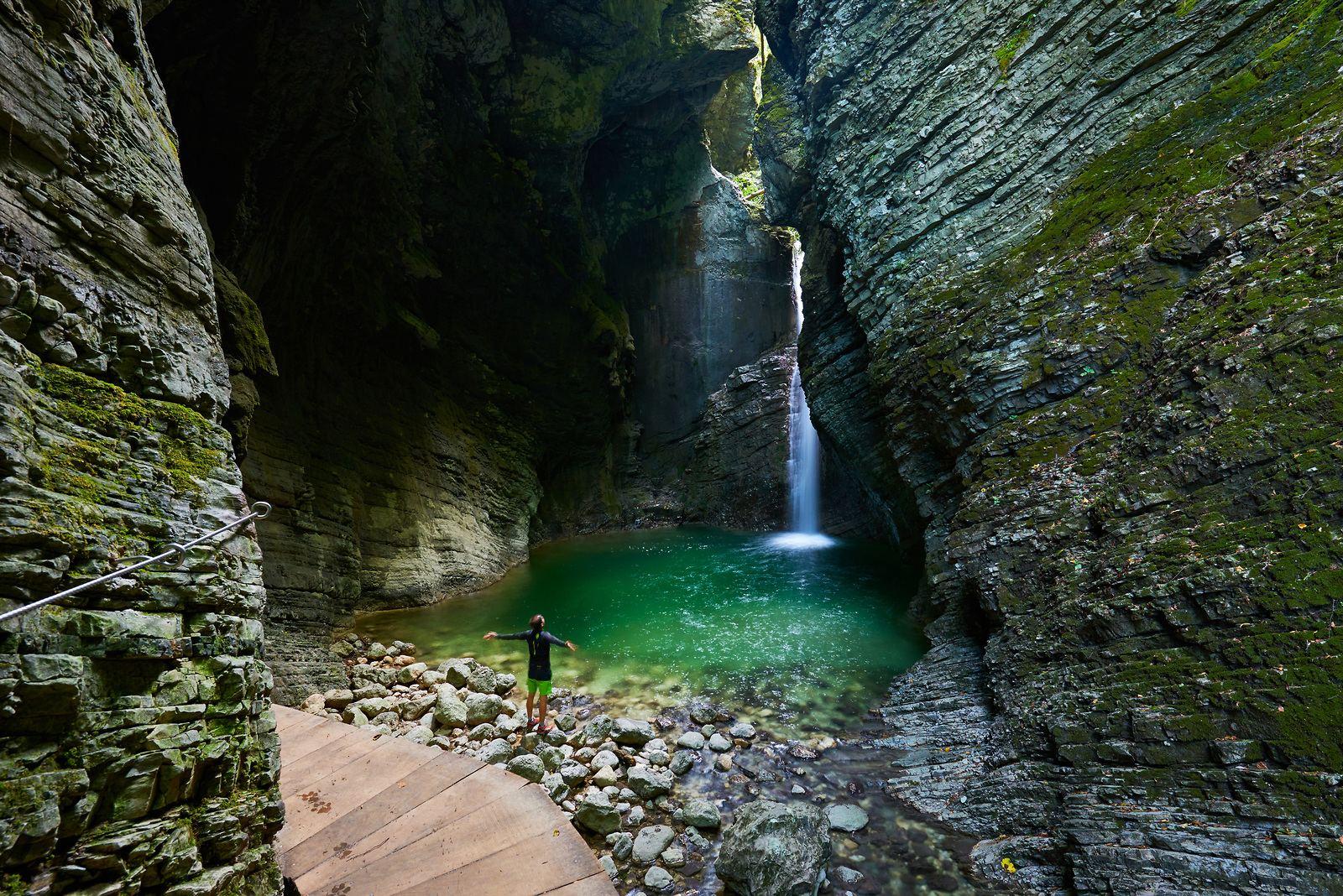 Vodopád Kozjak, Kobarid, Slovinsko. Foto: Tomo Jeseničnik