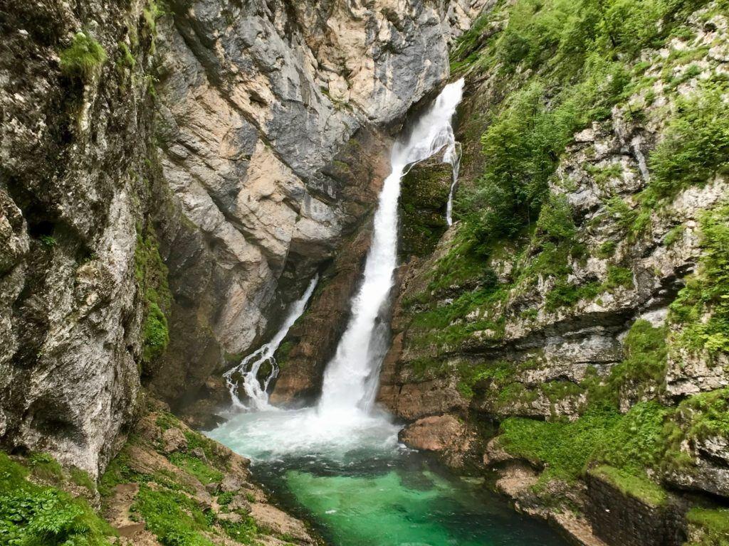 Vodopád Savica, Bohinj, Slovinsko