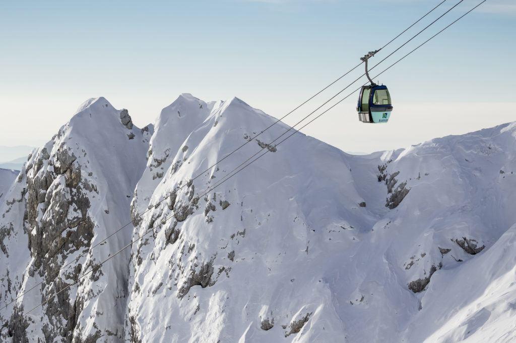 Skiareál Kanin-Stella Nevea, Julské Alpy, Slovinsko, Foto: Katja Pokorn