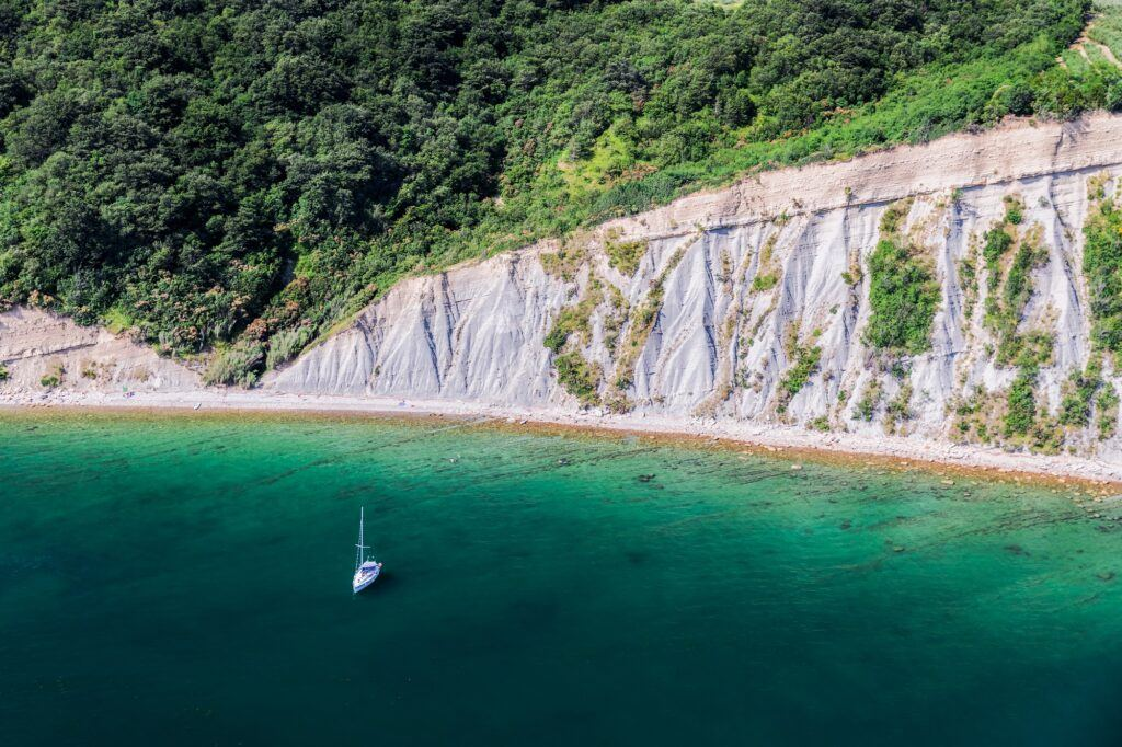 Pláž Bele skale, Izola, Slovinsko