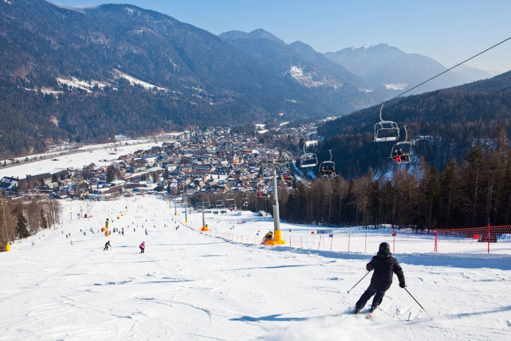 Skiareál Kranjska Gora, Slovinsko. Foto: Arhiv Turizem Kranjska Gora, Jošt Gantar