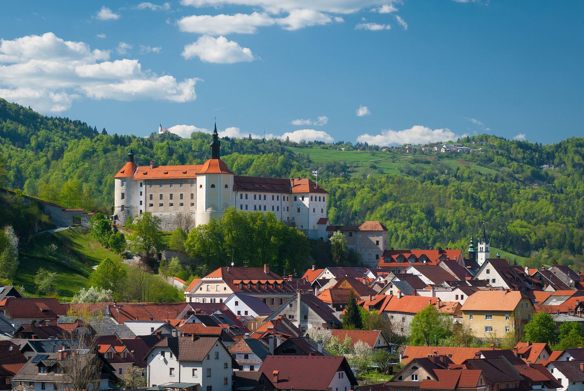 Škofjeloški grad, Škofja Loka, Slovinsko. Foto: Sašo Kočevar