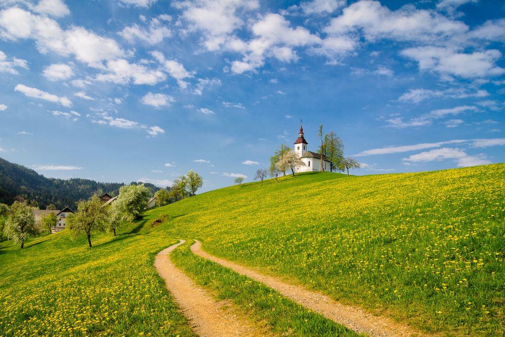 Sv. Tomaž, Škofjeloško hribovje, Slovinsko, Foto: Sašo Kočevar