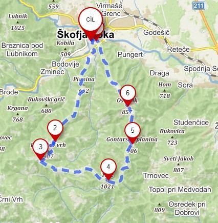 Náročnější trasa na Tošč