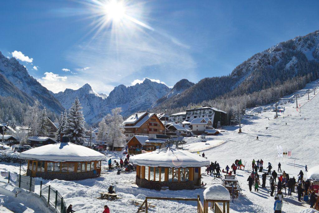 Skiareál Kranjska Gora, Slovinsko. Foto: Arhiv Turizem Kranjska Gora