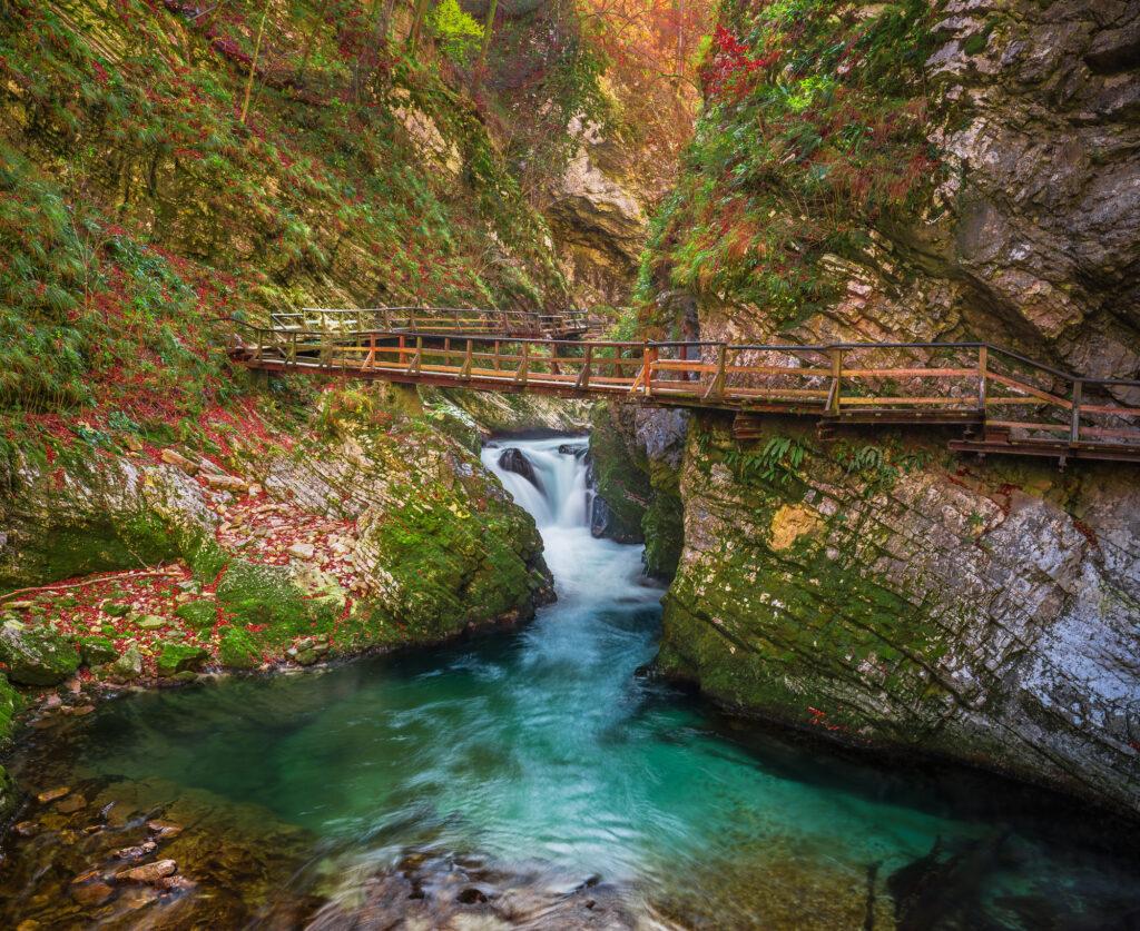 Soutěska Vintgar, Bled, Slovinsko