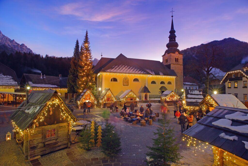 Vánoce Kranjska Gora, Slovinsko. Foto: Matej Vranič