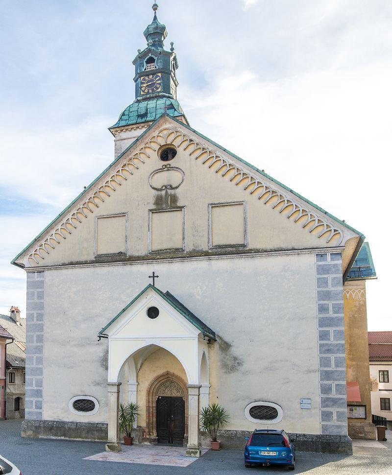 Kostel sv. Jakuba, Škofja Loka, Slovinsko. Foto: Jaka Arbutina