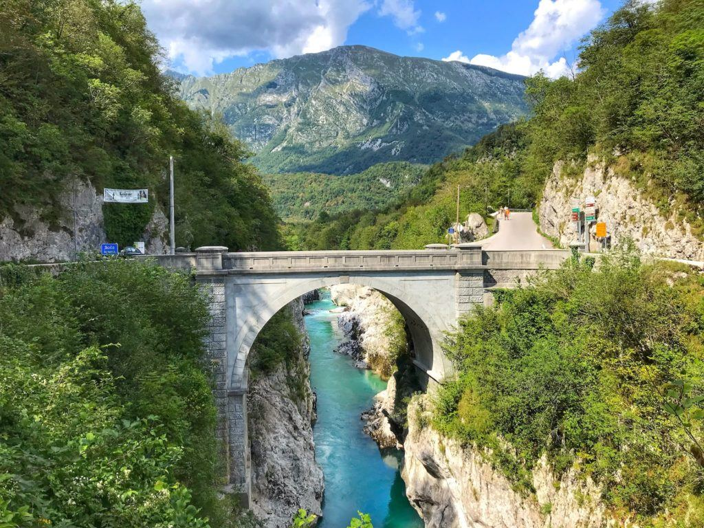 Napoleonův most, Soča, Slovinsko