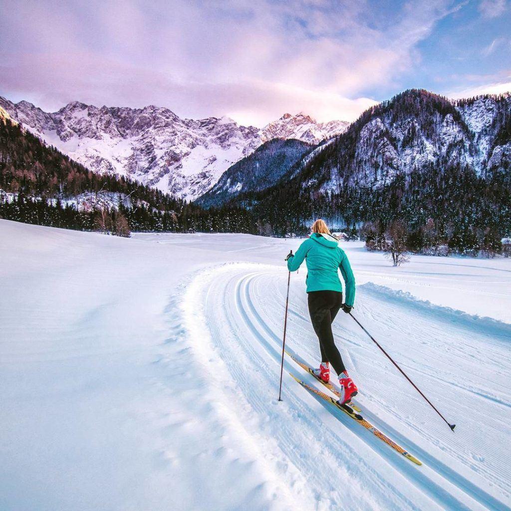 Zimní Zgornje Jezersko, Kamnicko-Savinjské Alpy, Slovinsko. Foto: TIC Jezersko