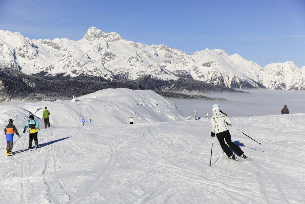 Skiareál Vogel, Bohinjské jezero, Slovinsko. Foto: Bohinj