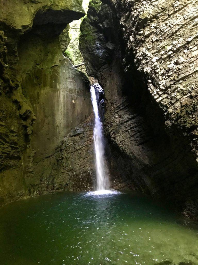Vodopád Kozjak, Kobarid, Slovinsko