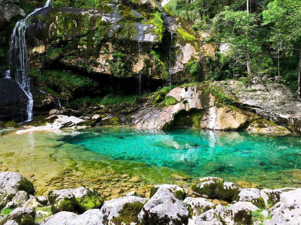 Vodopád Virje, Bovec, Slovinsko. Foto: Iva Bartáková